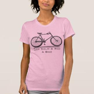Keep Calm & Ride A Bike Design T-shirt