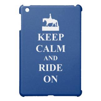 Keep calm & ride on (blue) case for the iPad mini
