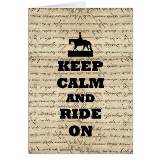 Keep calm & ride on card
