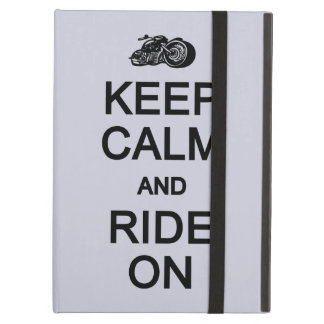 Keep Calm & Ride On custom color cases Case For iPad Air