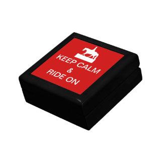 Keep calm & ride on gift box
