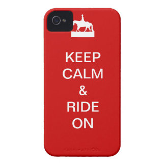 Keep calm & ride on iPhone 4 cases