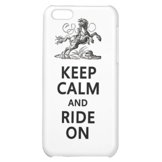 Keep Calm & Ride On iPhone 5C Covers