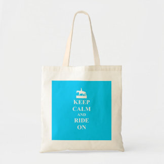Keep calm & ride on (light blue)