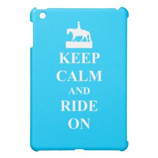Keep calm & ride on (light blue) iPad mini cover
