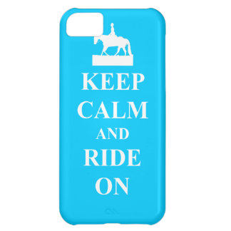 Keep calm & ride on (light blue) iPhone 5C case
