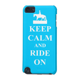 Keep calm & ride on (light blue) iPod touch (5th generation) cases