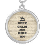 Keep calm & ride on necklaces