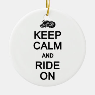 Keep Calm & Ride On ornament, customize Christmas Ornament