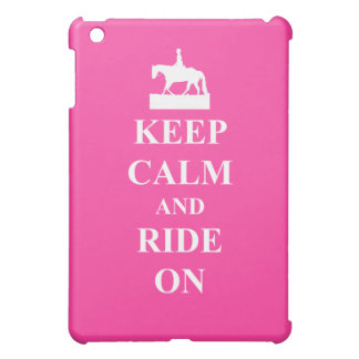 Keep calm & ride on (pink) cover for the iPad mini