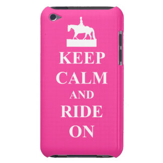Keep calm & ride on (pink) iPod touch Case-Mate case