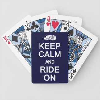 Keep Calm & ride On playing cards