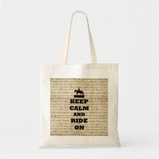 Keep calm & ride on tote bag