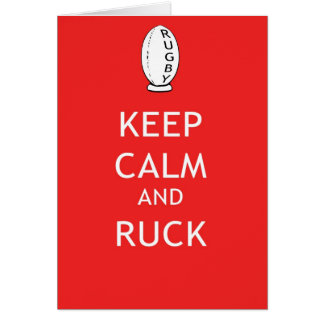 Keep Calm & Ruck Card