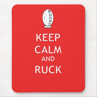 Keep Calm & Ruck Mouse Pad