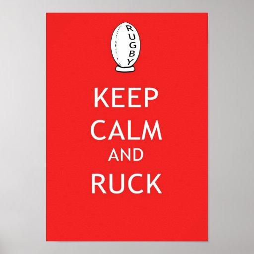 Keep Calm & Ruck Poster