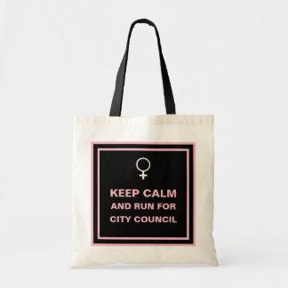 Keep Calm Run for City Council Tote Bag
