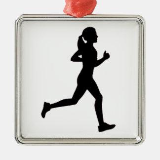 Keep calm & run on christmas ornament