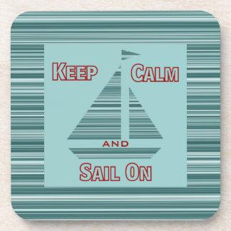 Keep Calm & Sail On Coaster Set