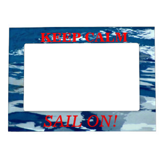 Keep Calm Sail On Picture Frame