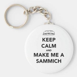 KEEP CALM; SAMMICH TIME KEY RING