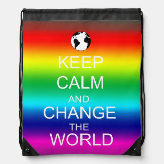Keep Calm Save the World Backpack