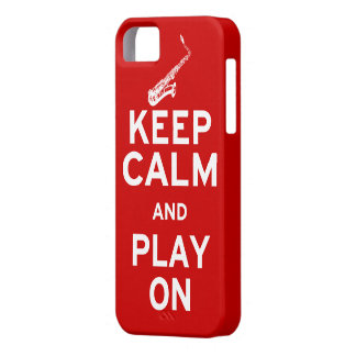 Keep Calm Saxophone Case For The iPhone 5