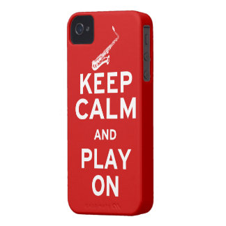 Keep Calm Saxophone Case-Mate iPhone 4 Cases