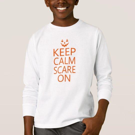 Keep Calm Scare On Halloween Unisex Kids Pumpkin T-Shirt