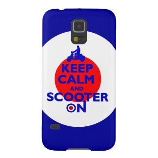 Keep Calm Scooter on Mod target Cases For Galaxy S5