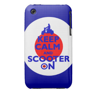 Keep Calm Scooter on Mod target iPhone 3 Case-Mate Cases