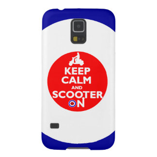 Keep Calm Scooter on Mod target Galaxy S5 Case