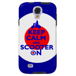 Keep Calm Scooter on Mod target Galaxy S4 Case
