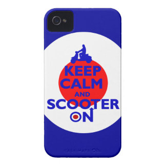 Keep Calm Scooter on Mod target Case-Mate iPhone 4 Case