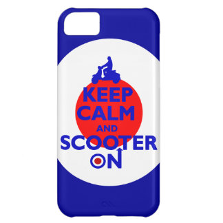 Keep Calm Scooter on Mod target Case For iPhone 5C