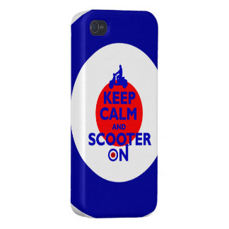 Keep Calm Scooter on Mod target Cover For iPhone 4