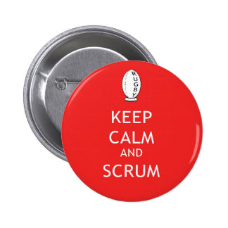 Keep Calm & Scrum 6 Cm Round Badge