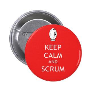 Keep Calm & Scrum 6 Cm Round Badge