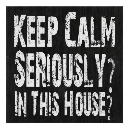 Keep Calm, Seriously? Poster
