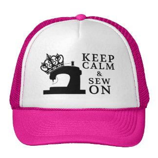Keep Calm Sew On Cap