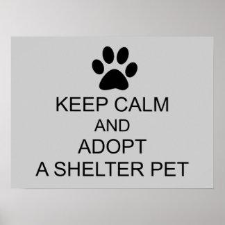 Keep Calm Shelter Pet Print