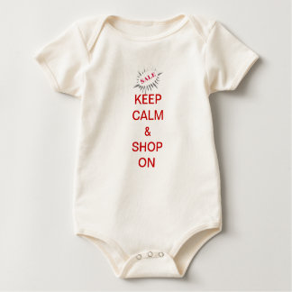 keep calm & shop on baby bodysuit