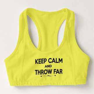 Keep Calm Shot Put Discus Hammer Sports Bra