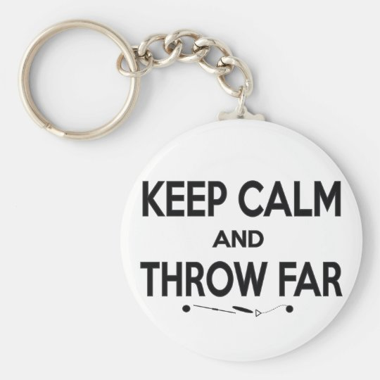 Keep Calm Shot Put Discus Hammer Throw Keychain