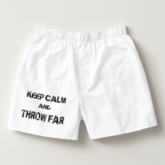 Keep Calm Shot Put Discus Hammer Throw Underwear