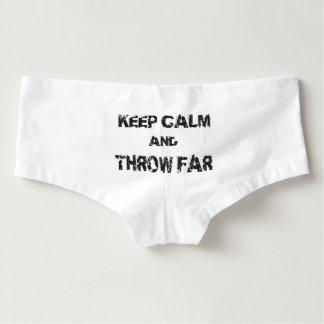 Keep Calm Shot Put Discus Hammer Throw Underwear Hot Shorts