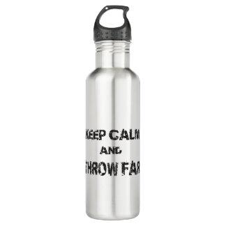 Keep Calm Shot Put Discus Hammer Water Bottle