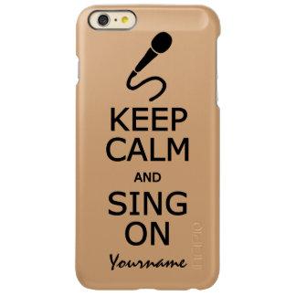 Keep Calm & Sing On custom cases