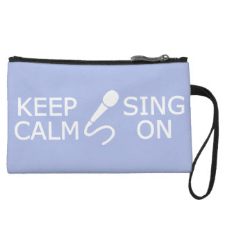 Keep Calm & Sing On custom color accessory bags