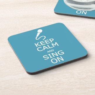 Keep Calm & Sing On custom color coasters